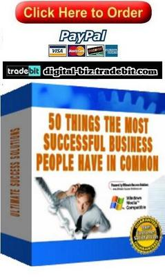 Product picture 50 Things The Most Successful Business People Have In Common