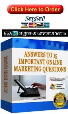 Product picture Answers To 15 Important Online Marketing Questions