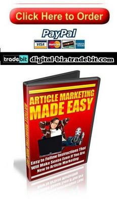Product picture Article Marketing Made Easy