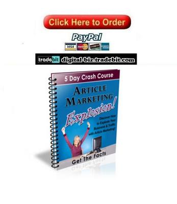 Product picture Article Marketing Explosion Crash Course